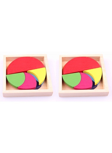 2'li Ahşap Dairesel Bulmaca Paketi-Learning Toys